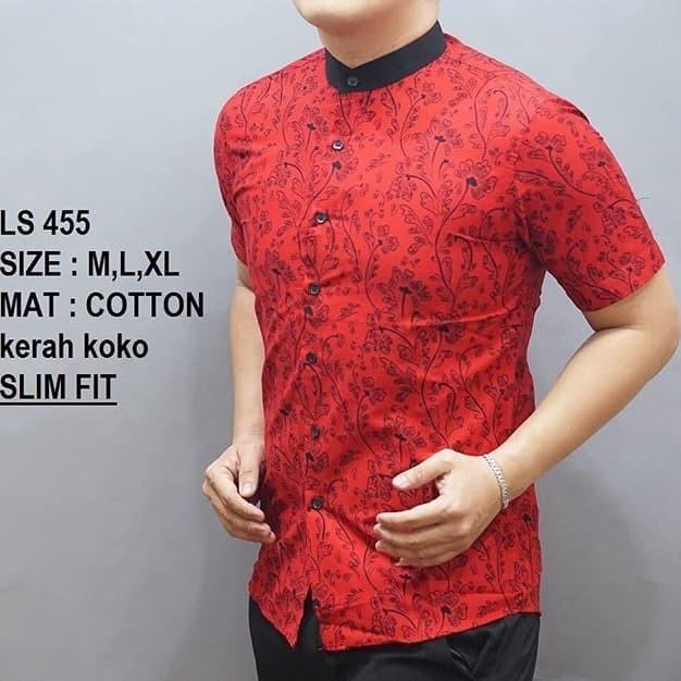 Jual Kemeja Batik Pria Slim Fit Baju Batik Pria Imlek Edition Ls455 Dki Jakarta Lina Batik Distro Tokopedia