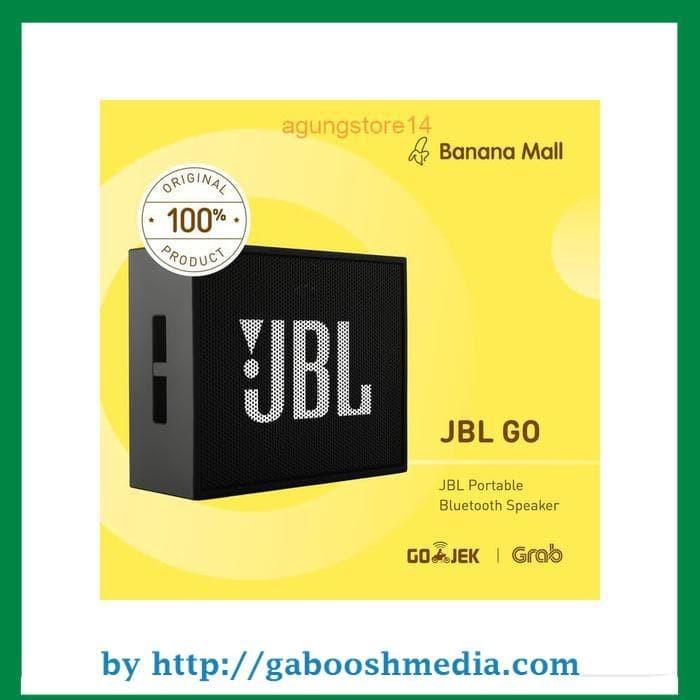 100% Original JBL GO Portable Bluetooth Speaker - Hitam