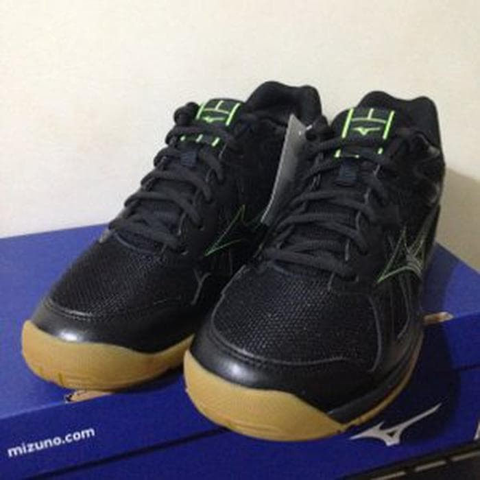 Jual Sepatu Volley Mizuno Cyclone Speed Black Green Gecko V1GA178010 ... 78a417693c