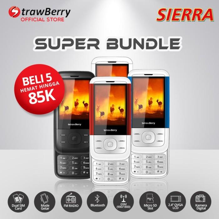harga Strawberry sierra - paket bundle 5 / handphone candybar / bluetooth Tokopedia.com