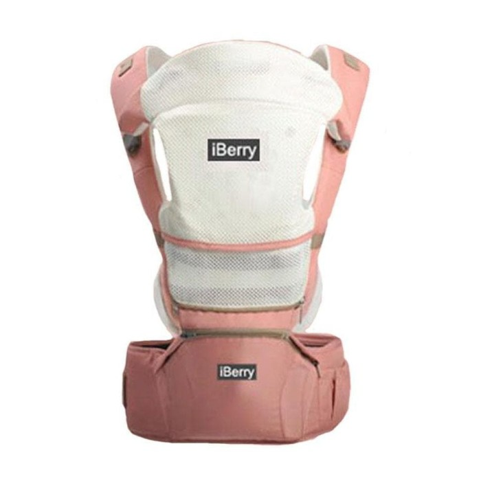 JUAL Gendongan Bayi iBerry Windsor G01 9 in 1 Baby Carrier Pink !