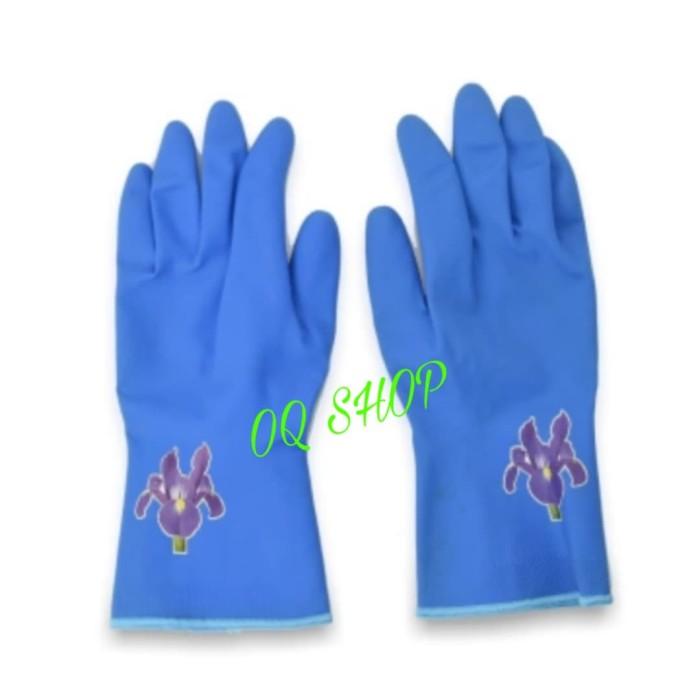 cuci piring anti air Rubber glove murah - HPR088 - Biru. Rp .