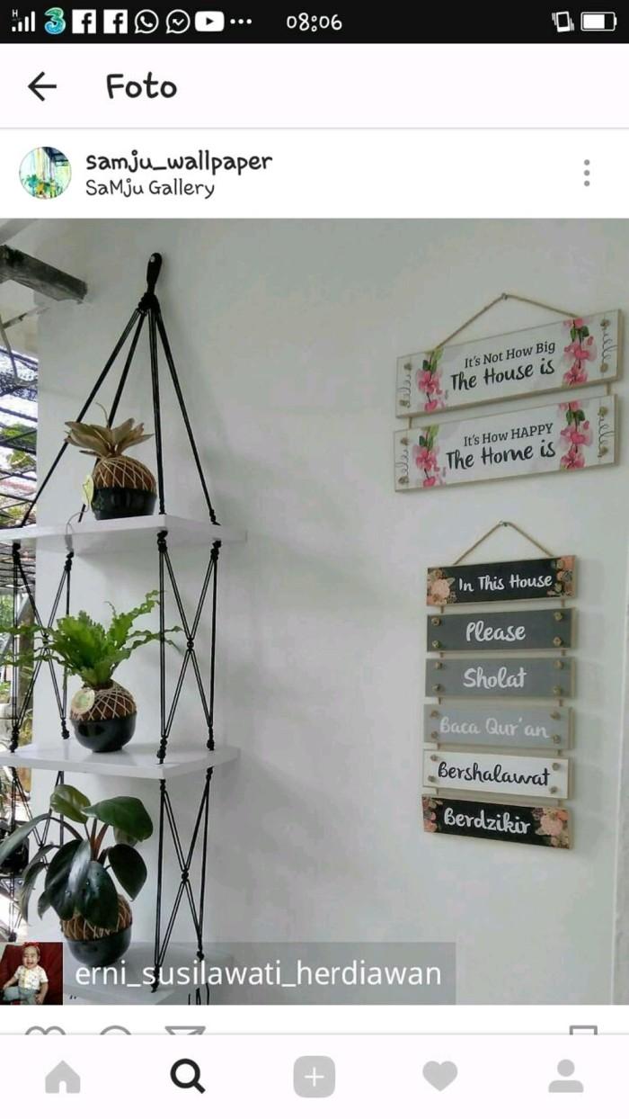 Jual Termurah Rak Dinding 3 Susun Minimalis Putih Tali Hitam Jakarta Barat Rahwa Shop