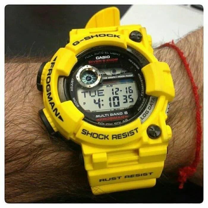 Jual Jam Tangan Pria Casio Gshock FROGMAN GWF 1000 Yellow Original ... 6729768929