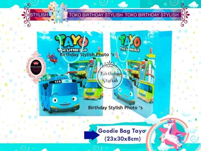 Goodie Bag / Tas Plastik Snack Ulang Tahun / Bingkisan Ultah Bus Tayo