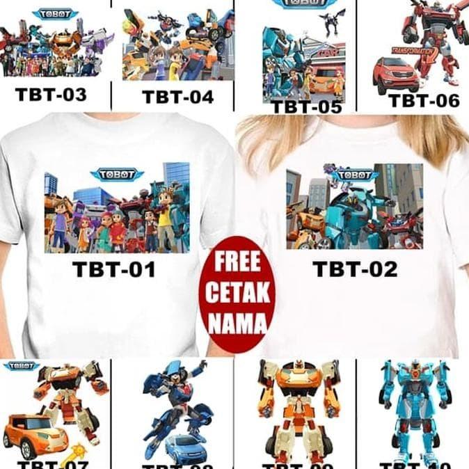 Foto Produk Kaos / Baju Tobot Anak Banyak Motif (Free Nama) dari toko kita90