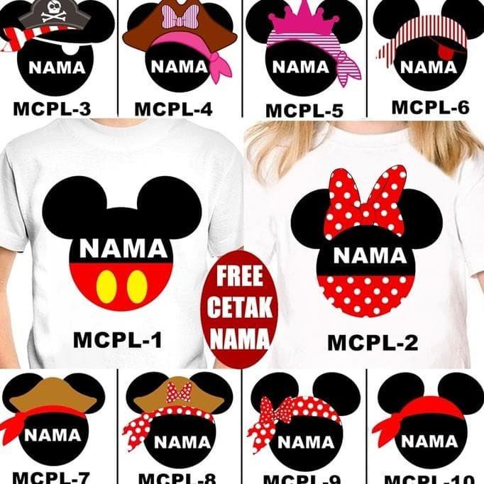 Foto Produk Kaos / Baju Mickey Minnie Couple Anak Banyak Motif (Free Nama) dari toko kita90
