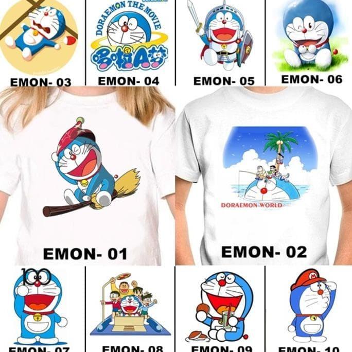Foto Produk Kaos / Baju Doraemon Anak 20 Desain (Free Tulisan/Nama) dari toko kita90