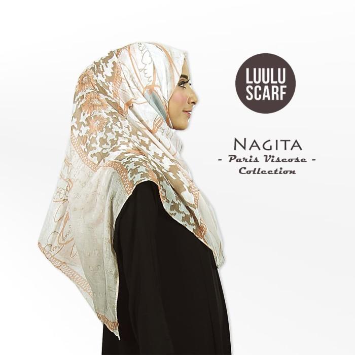 Nagita   bunga   bahan paris   pashmina motif / hijab / jilbab