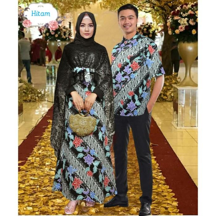 Jual Couple Hadijah Hitam Xl Baju Kebaya Pesta Modern Sarimbit Black