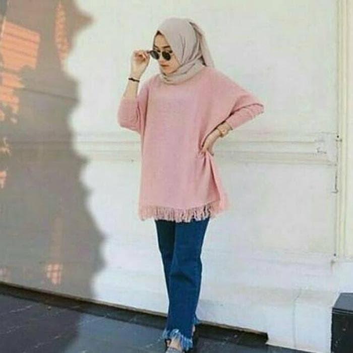 Jual Sweater Rumbai Bawah   Pakaian Atasan Wanita   Baju Out Diskon ... 6b007f12be