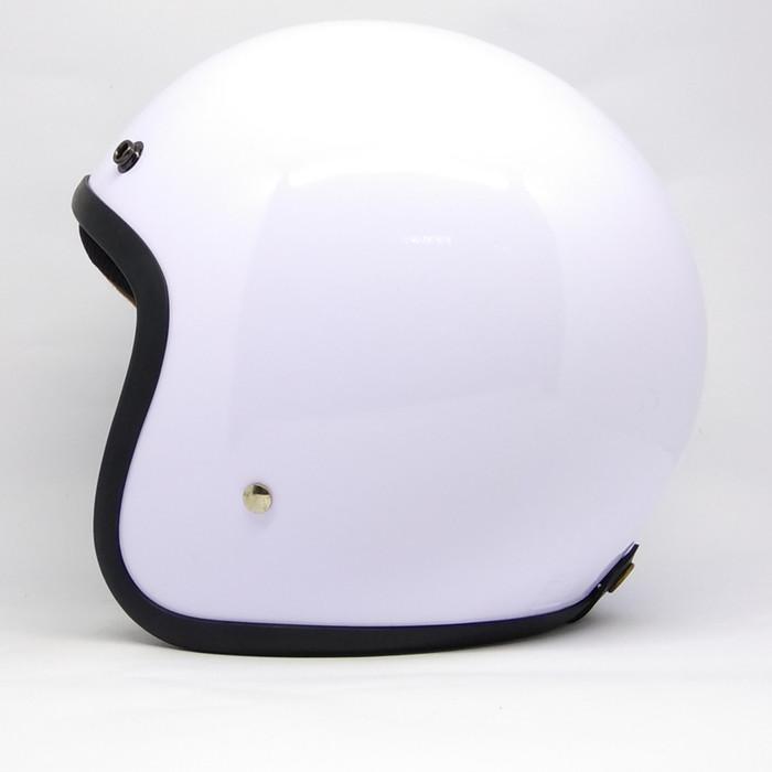 harga Helm retro classic caferacer putih glossy vespa cb piaggio n max vario Tokopedia.com