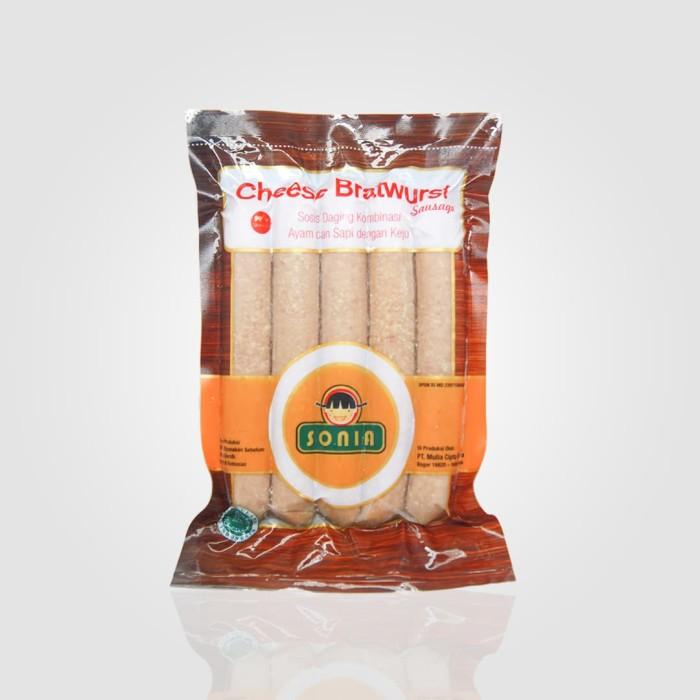 Sosis SONIA Keju - Cheese Bratwurst 23/65 (325gr) - isi 5 pcs