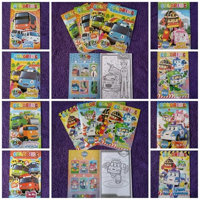 Jual Tayo Poli Coloring Book Buku Gambar Mewarnai Anak