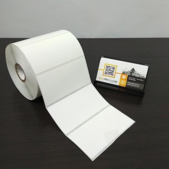 harga Kertas sticker label printer barcode 100 x 50 mm - 1 line - semicoated Tokopedia.com