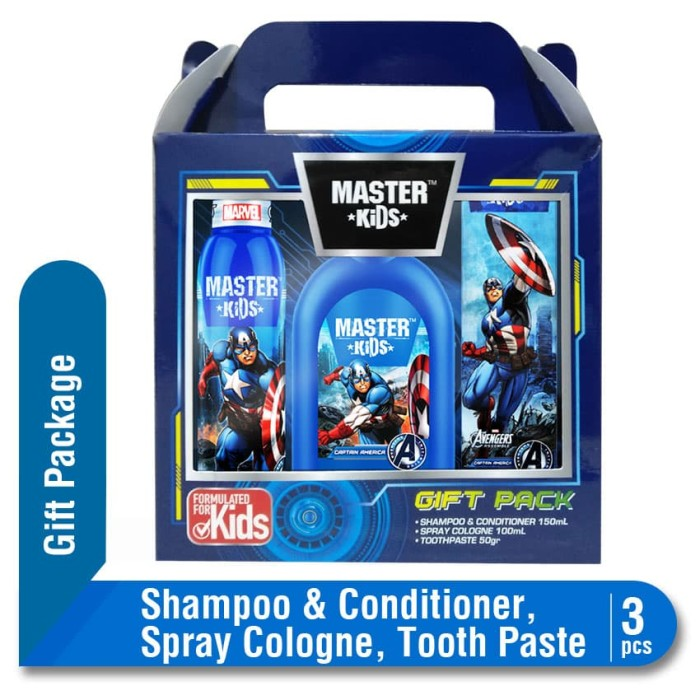 Master Kids Captain America Gift Package