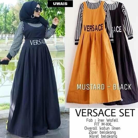 Jual Gamis Syari Baju Muslim Jumbo Katun Versace Xxl Murah Sale