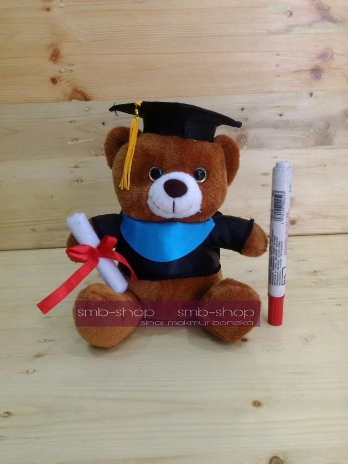 Boneka teddy bear wisuda uk m 22cm soft yelvo free parcel dan pita dbcaf5e747