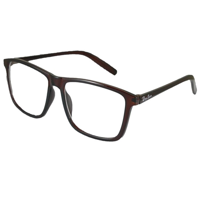 Jual ID Sunglass - Wayfarer D-Frame Pria Wanita - Frame Coklat 1004 ... ba9b9cf9dd