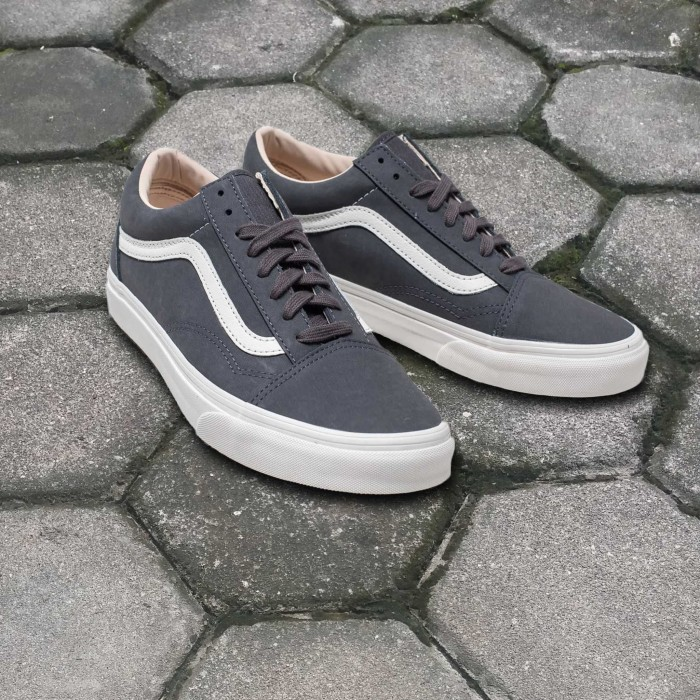 562713f432 Jual Sepatu Vans Old Skool Vansbuck Asphalt Blanc De Blanc Original ...