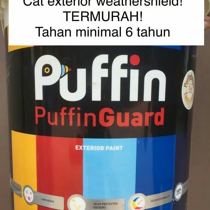 harga Puffin cat tembok eksterior min 6 thn. setara dulux jotun. promo 2.5l Tokopedia.com