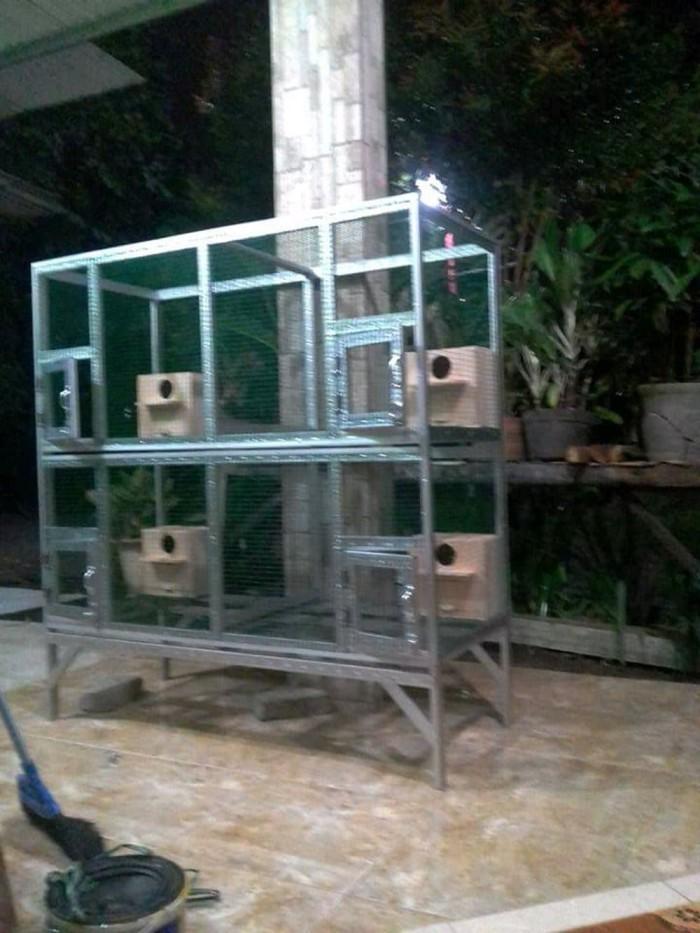 harga Kandang burung ternak umbaran 4 susun kandang burung Lovebird LB Tokopedia.com