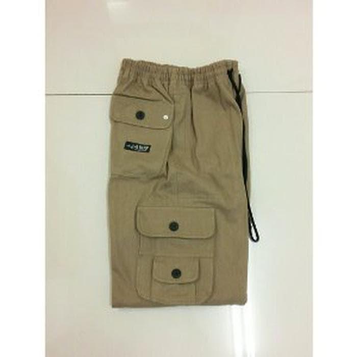 Celana Sirwal Kanvas Coklat Muda - Celana Cingkrang