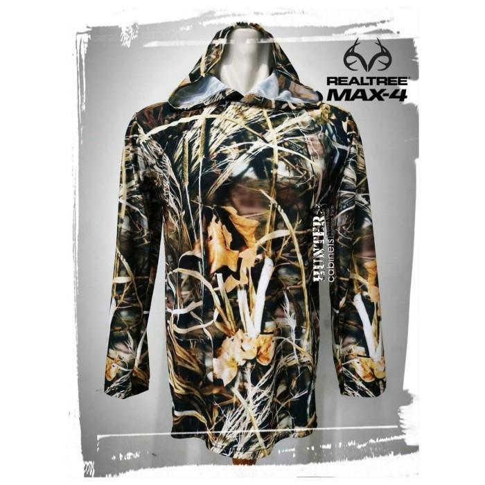 Kaos hoodie camo realtree max 4 -mossy oak -perbakin -loreng