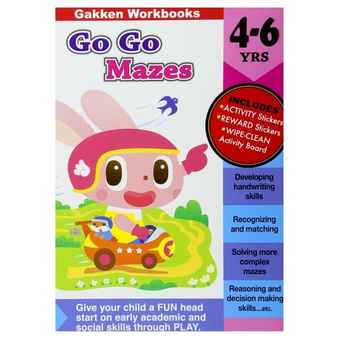 Gakken Go Go Mazes 4-6 Years Buku Aktivitas Edukasi Anak