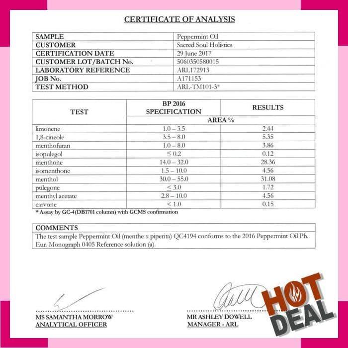 Darjeeling Peppermint Essential Oil | Minyak Daun Mint - 5ml / 10ml /