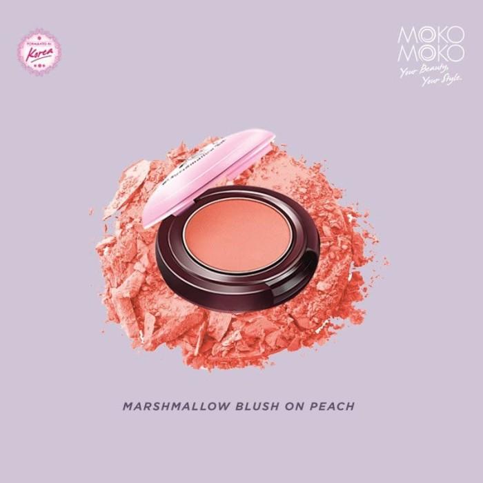 Moko Moko Marshmallow Blush on Peach Korean Blush O Murah .