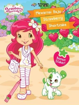 Jual Buku Anak Strawberry Shortcake Mewarnai Baju Strawberry