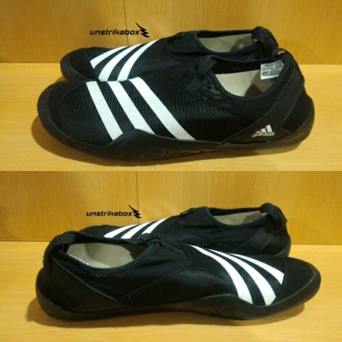 Jual Adidas Climacool Jawpaw Slip On Black White Sepatu