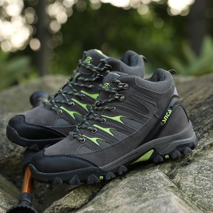 harga Sepatu gunung/hiking/outdoor snta 475 grey green Tokopedia.com