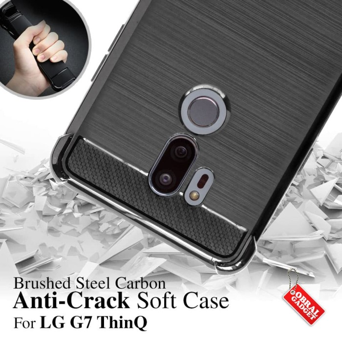 Foto Produk Anti Crack Soft Case LG G7 ThinQ Softcase Silikon Silicon Casing Cover dari Obral Gadget