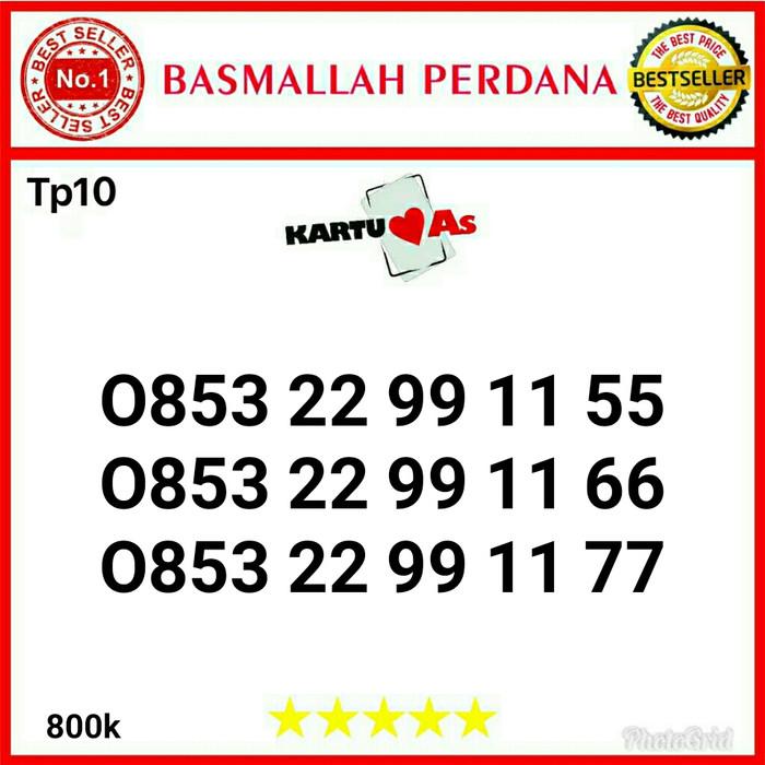 Nomor cantik Telkomsel As Seri kwartet AA 0853 22 99 11 55 Tp10