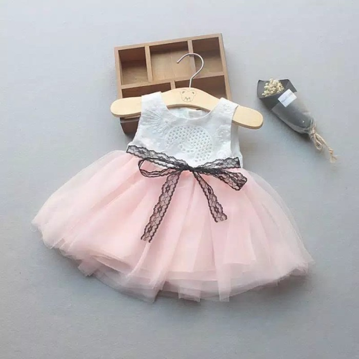 Jual Aideen Dress Baju Pesta Natal Anak Perempuan Import Gaun Pesta