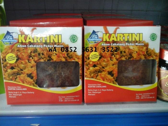 harga Abon cakalang pedas manis merk kartini 150 gram oleh oleh khas manado Tokopedia.com