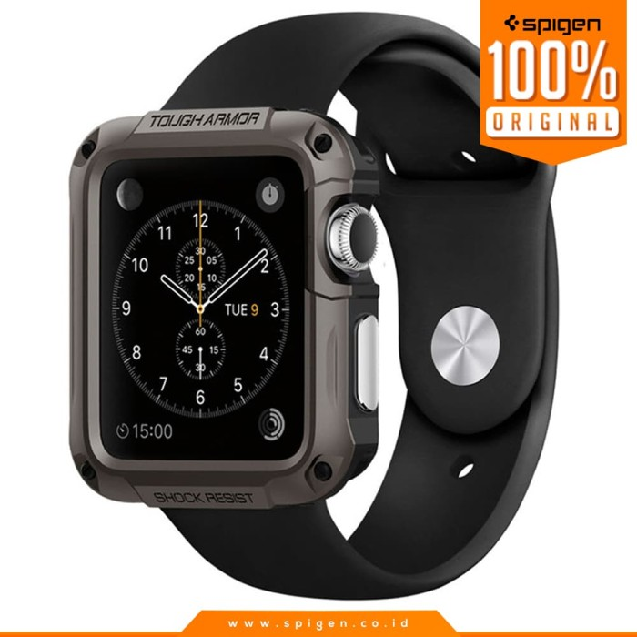 harga Spigen tough armor case for apple watch 42 mm - gunmetal Tokopedia.com