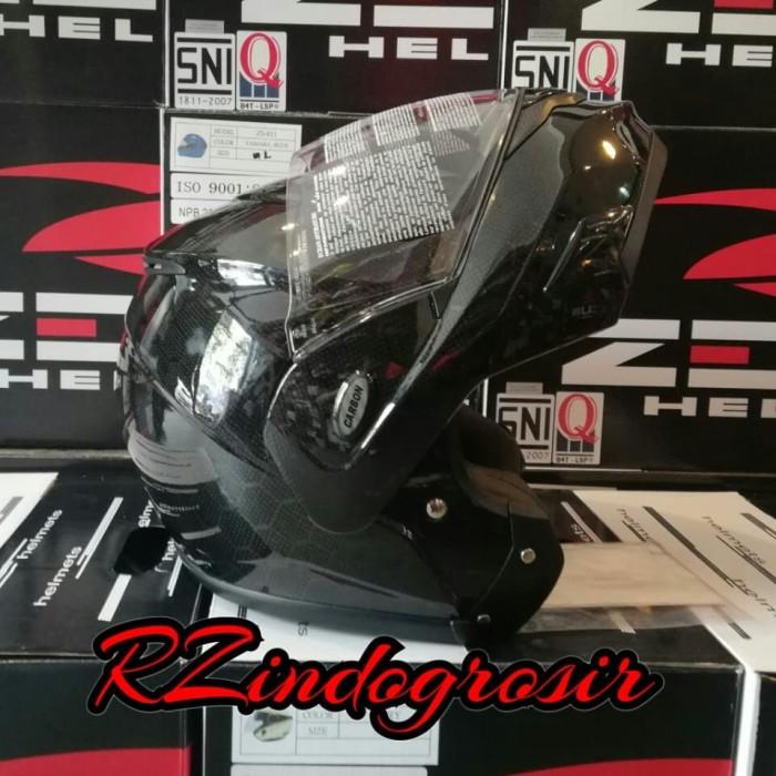 harga Helm zeus zs3500 carbon modular flip up Tokopedia.com