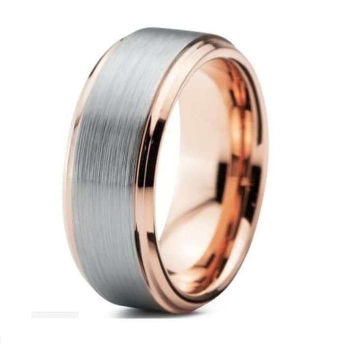 Foto Produk Cincin TUNGSTEN CERAMIC 18K Gold Ring Pria Wanita High Quality dari Maneki
