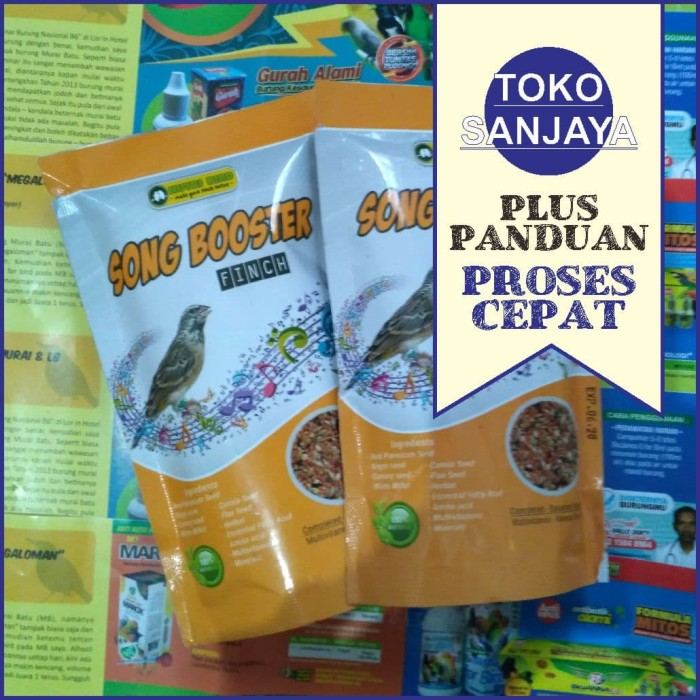 harga Song booster finch pakan burung blackthroat gelatik gould amadine Tokopedia.com