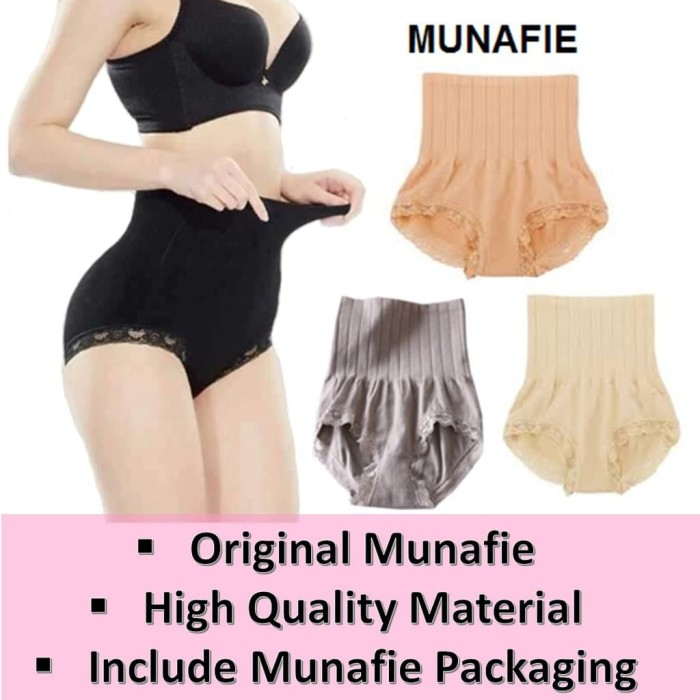 Munafie Slimming Pants / Celana Korset Pelangsing Bestseller - Hitam