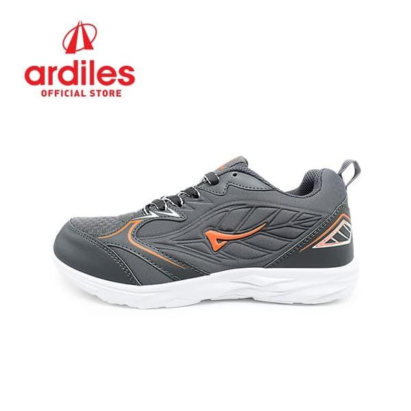 Ardiles Men Daun Sepatu Lari Pria - Abu Orange