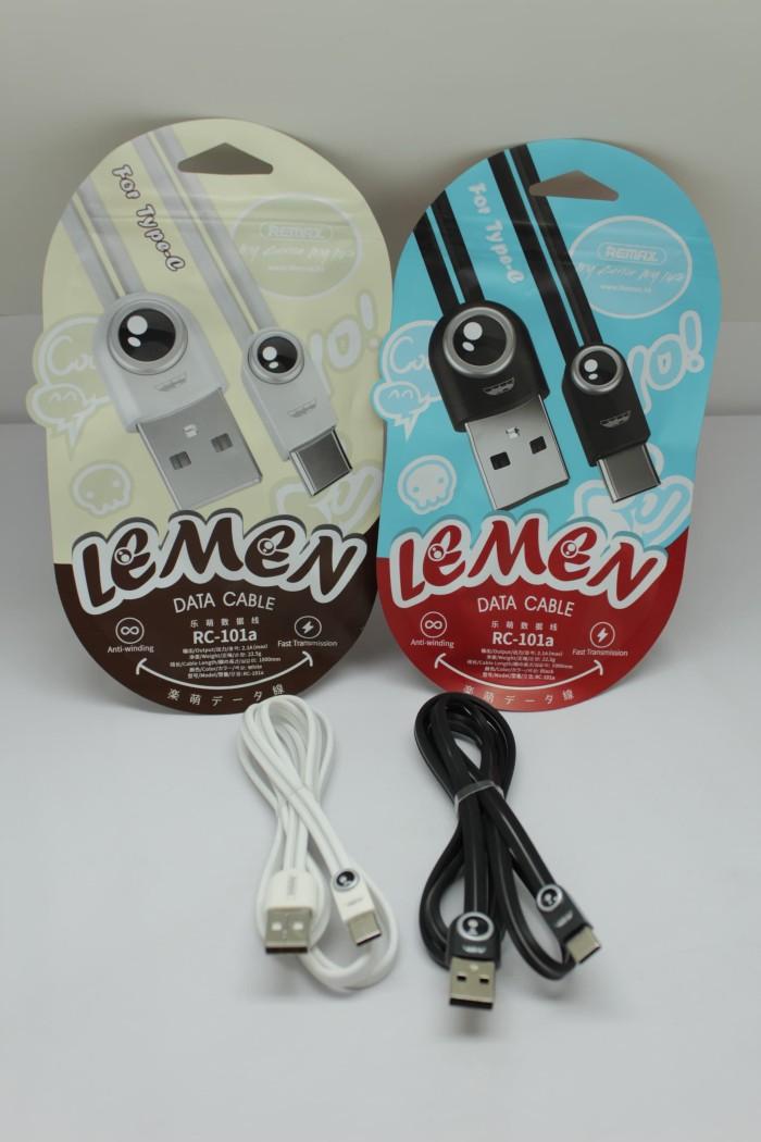 Kabel Data Remax Lemen Rc - 101a Tipe C / Type C / Tepsi Fast Charging - 1kdtypec101rx