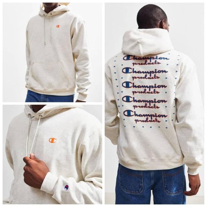 champion neon stacked hoodie sweatshirt urban outfitters