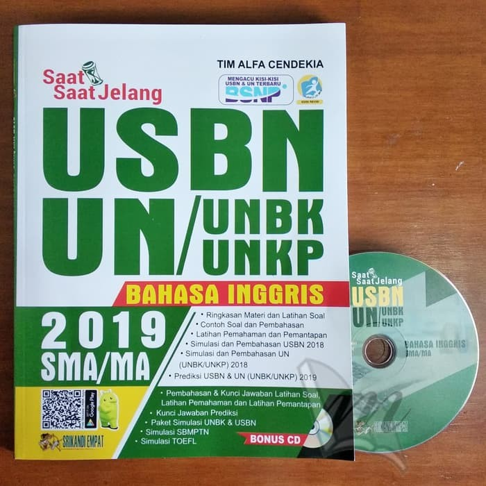 Jual Buku Saat Saat Jelang Usbn Unbk Unkp Bahasa Inggris Sma 2019 Kab Bandung Buku Un Tokopedia