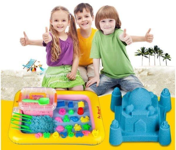 Pasir Kinetik 2kg Play Magic Sand Pasir Ajaib Game Mainan Anak Edukasi