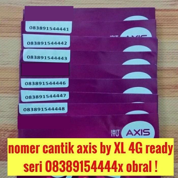 harga Nomer cantik nomor cantik axis by xl 4g kartu perdana harga obral Tokopedia.com