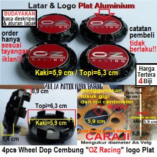 harga Dop center velg mobil racing oz cembung hitam kaki 5.9 cm plat merah Tokopedia.com